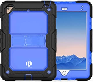 Apple Ipad Mini 1/2/3 Remson Rugged Shockproof Drop Protection with Kickstand/Shoulder Strap Case Cover (Clear Blue)