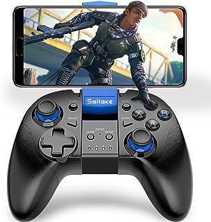 BEBONCOOL bluetooth接続コントローラー ワイヤレスゲームコントローラー 連射機能搭載 スマホ ゲームパッド スマホ コントローラー Bluetooth4.0接続 IOS/Androidに対応(スマホ/タブレットに適用)