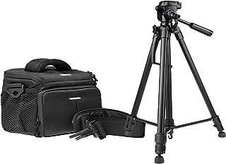 Cámara de Fotos Set Action Black Funda Bolsa con Foto y vídeo (Incluye Funda para trípode) para Canon EOS 1300d 1200d 760d 750d 700d 80d Nikon D7200D610D500D5500D5300D3300D3200