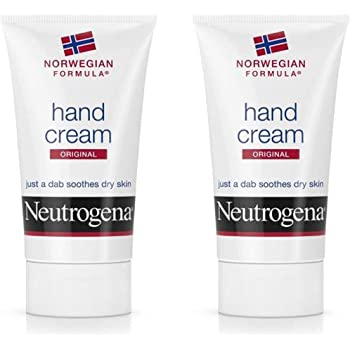 Neutrogena Norwegian Formula Moisturizing Hand Cream Formulated with Glycerin for Dry, Rough Hands, Scented Intensive Hand Lotion, 2 oz (Pack of 2)