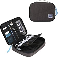 BAGSMART Electronics Organizer Double-Layer Travel Cable Organizer Cord Organizer Bag Accessory Organizer Storage Bag for 7.9