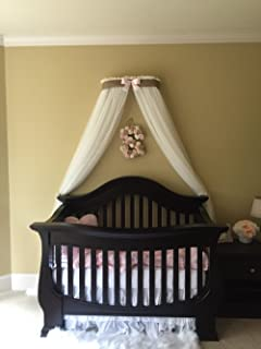 Bed canopy cornice CrOwN FrEe White Sheer drapery teester coronet Nursery Crib custom design So Zoey Boutique SALE