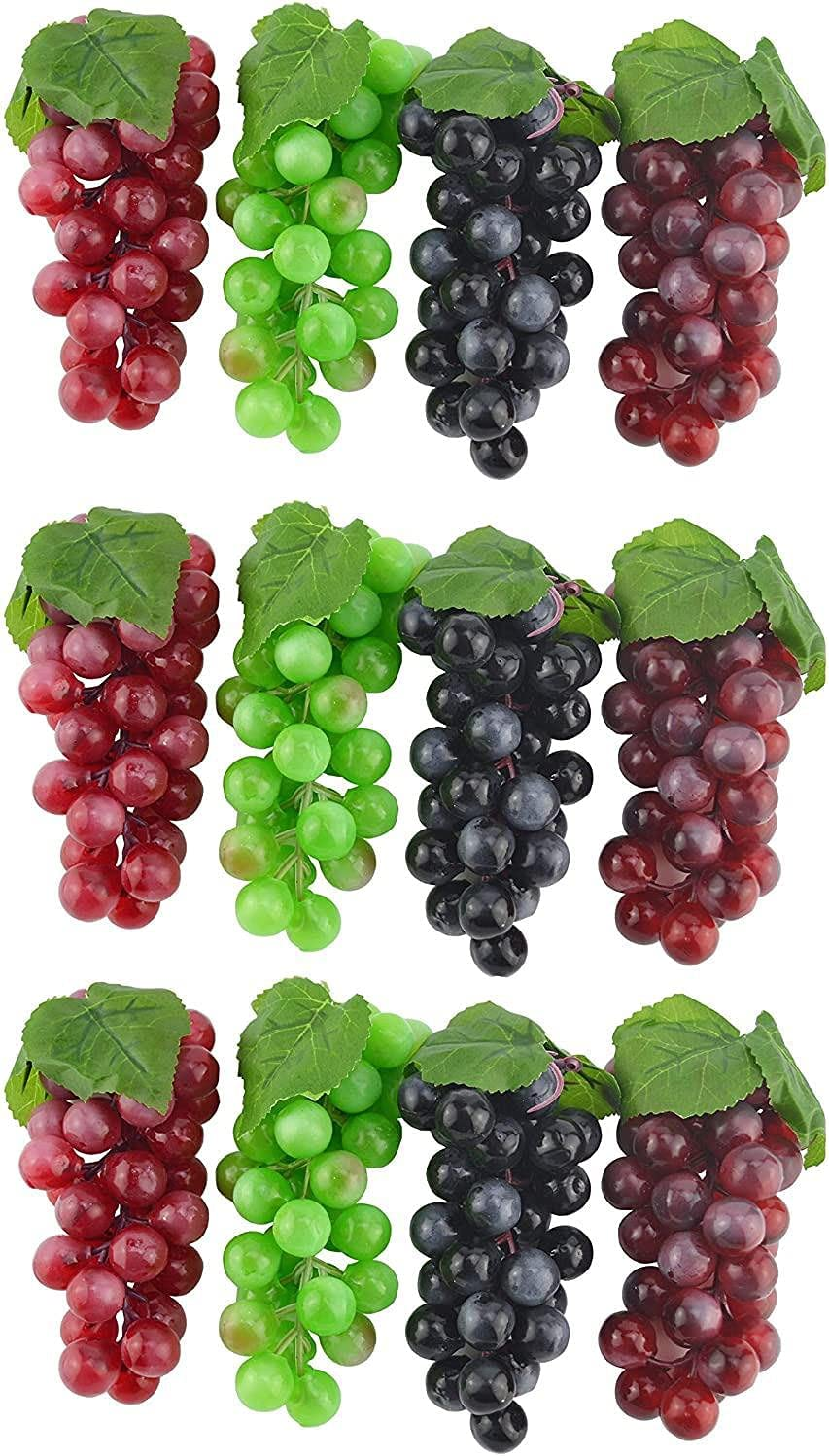 Mesa Mall 6.3 Inches Japan Maker New Artificial Grapes Cluster Rubber Bundle Grape Frosted