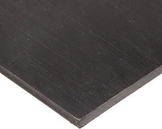 """UHMW (Ultra High Molecular Weight Polyethylene) Sheet, Opaque Black, Standard Tolerance, 1/8"""" Thickness, 12"""" Width, 24"""" Length"""