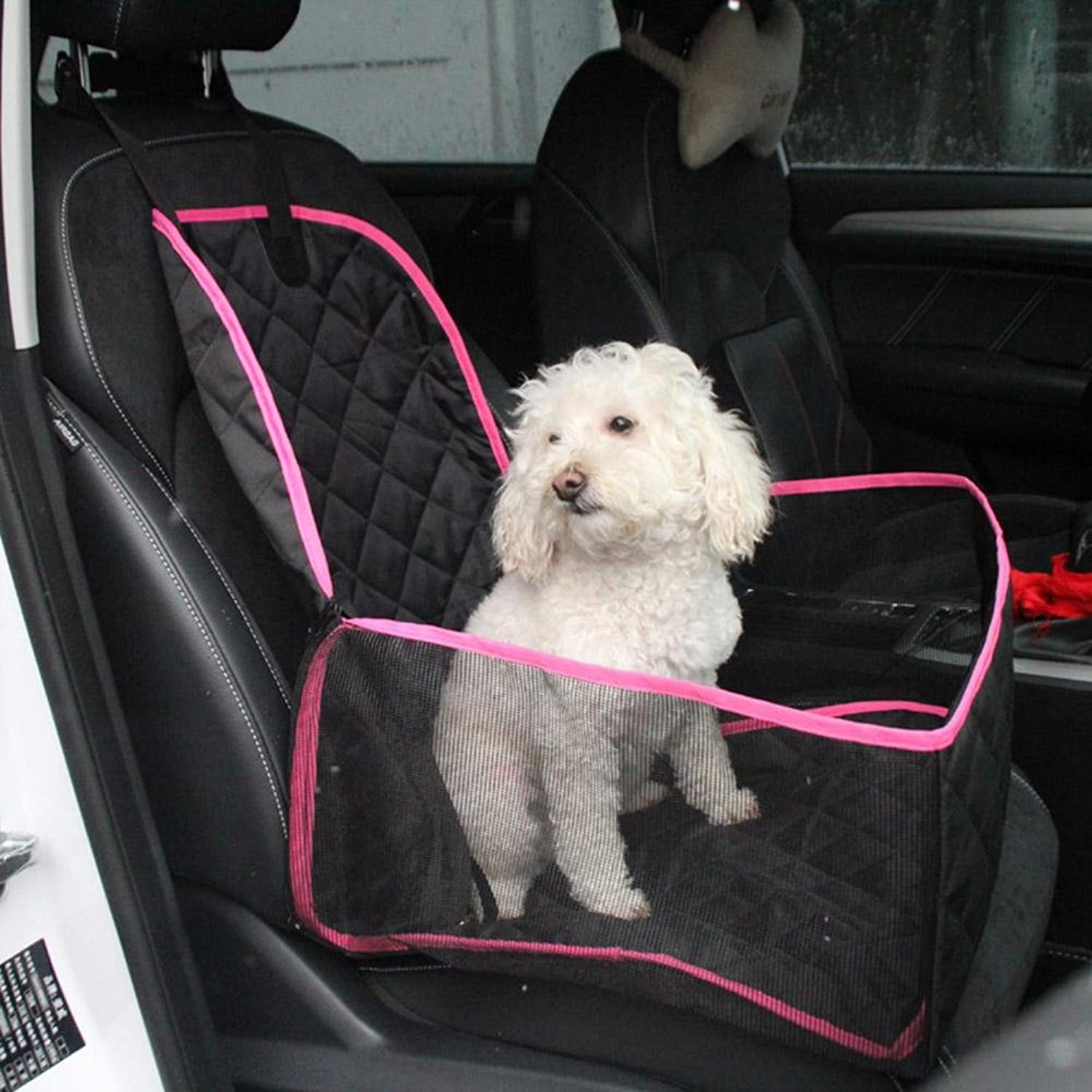 Dog Car Seat Cover For Front Seat Nonslip Rubber Backing with Anchor And An Adjustable Dog Hammock ZD117