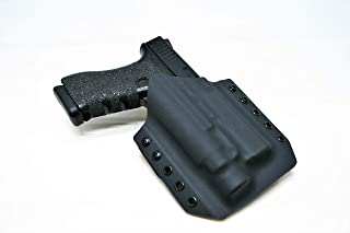 Code 4 Defense OWB Kydex Holster for Glock 17 with TLR-1 Left Hand. Outside The Waistband Kydex Holster