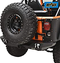 EAG Rear Bumper with D-Ring and Hitch Receiver Fit for 76-86 Jeep Wrangler CJ