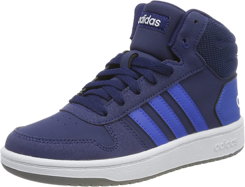 adidas Hoops 2.0 Mid, Zapatillas Altas Unisex Adulto, Azul (Dark Blue/Blue/Footwear White 0), 38 EU