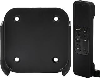 Rukoy Halterung Wandhalterung kompatibel für Apple Smart TV 4 / 4K mit Siri Remote Schutzhülle für TV 4th / 5th