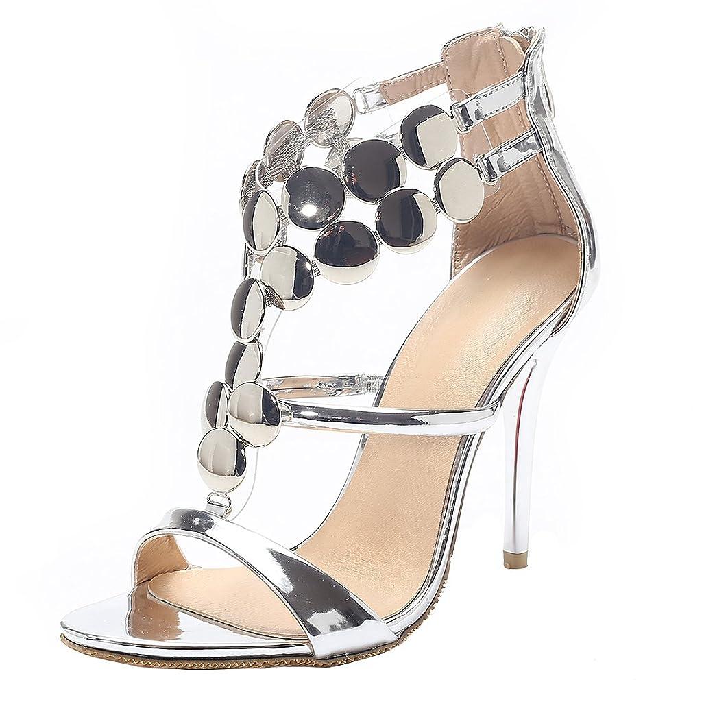 発症特権的ミントAIYOUMEIキラキラ パンプス結婚式 靴 レディース シューズ ピンヒール サンダルhigh heels womenオープントゥ ヒール 歩きやすい ビジネスシューズ