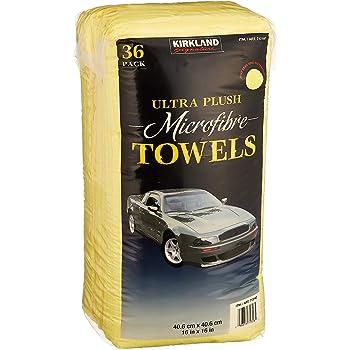 KIRKLAND SIGNATURE Ultra High Pile Premium Microfiber Towels, 36 Pack, 2 Units