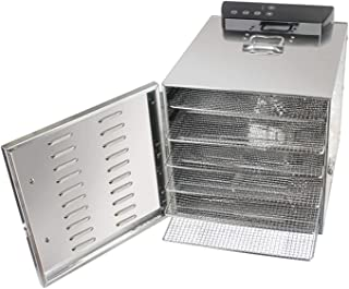 Stainless Steel Food Dehydrator, 6 Tray Fruit Dryer Stainless Steel Drying Machine, BPA Free for Fruit, Vegetables, Meat, ...