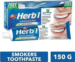 DABUR Herbal Smokers Toothpaste, 150 gm + Brush