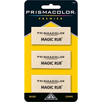 Prismacolor Premier Magic Rub Vinyl Erasers, 3-Count