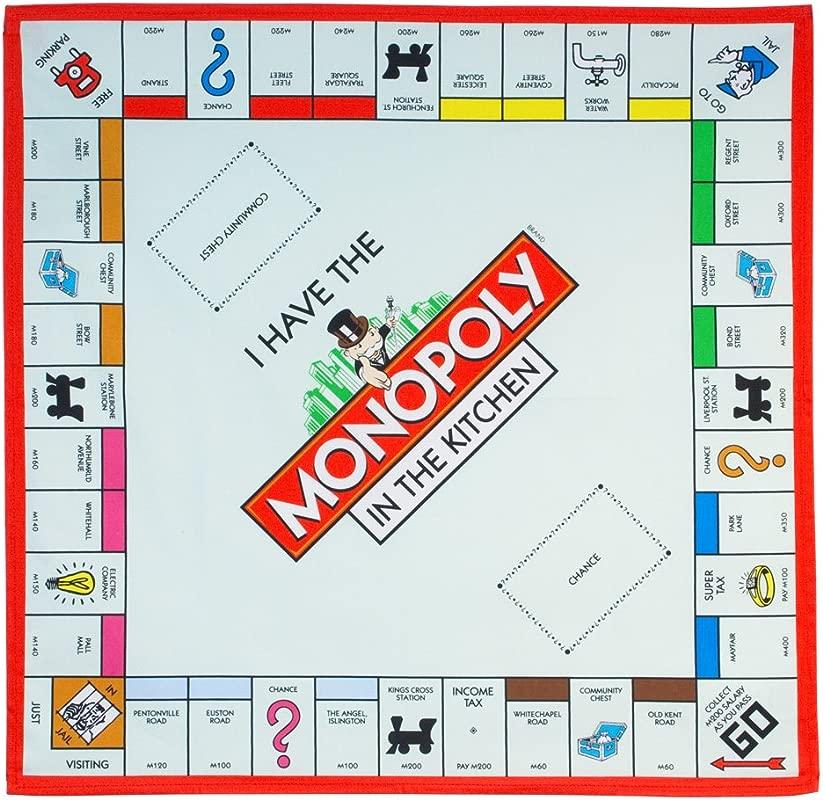 Gift Republic Ltd Monopoly Board Tea Towel