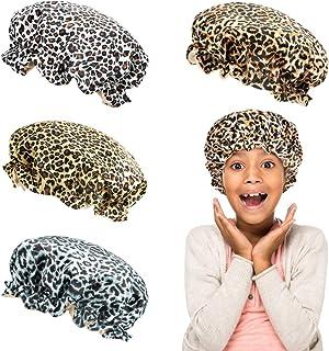 4 Pack Kids Stain Bonnet Sleeping Cap Set- Adjustable Baby Silk Night Sleep Hats in 4 Colors Elastic Wide Band Hair Loss C...