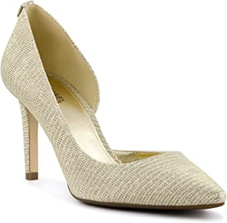 Womens Dorothy Pointed Toe Classic Pumps, WHT/GLD CHMP, Size 6.5
