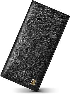 LAORENTOU Genuine Leather Bifold Wallets for Men Credit Card Holders Men's Slim Wallet with Zipper Coin Phone Pocket Gift ...