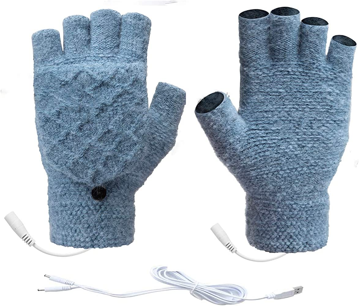 Unisex Recommended USB Heated Gloves wholesale Warmer Winter Mittens Removable