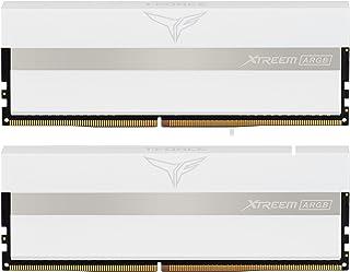 Team ARGB WHITE(発光型) DDR4 3200Mhz(PC4-25600) 32GBx2枚(64GBkit) XTREEMシリーズ デスクトップ用メモリ ハイスピードタイプ 日本国内無期限保証