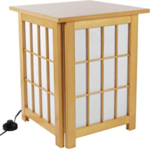 Oriental Furniture Hokkaido Table Lamp - Natural