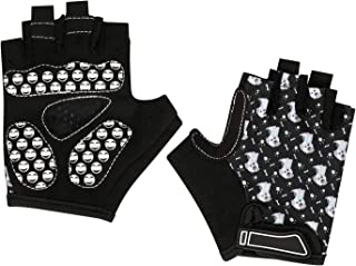 Girls Boys Stylish Biking Gloves Half Finger Sport GYM Fitness Gloves MTB Racing Mitts Non-slip Shockproof Breathable Short Finger Summer Fingerless Gloves Mountain Road Cycling Riding Gloves 1 Pair