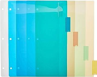 فواصل ربط ثلاثية الحلقات من BAZIC مع 5 علامات تبويب ملونة (علبة من 24)