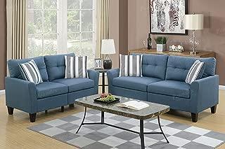 Poundex PDEX- Sofas, Blue