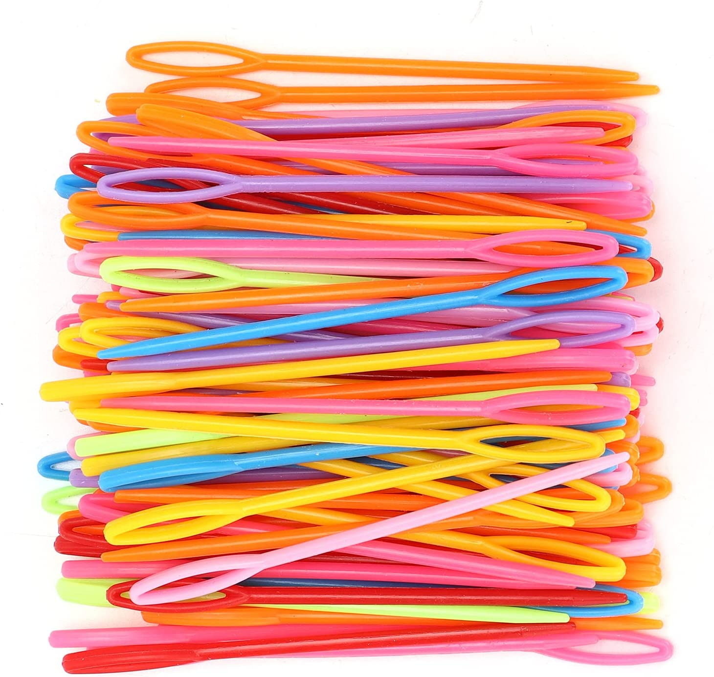 Velaurs Free shipping anywhere in the nation Plastic Surprise price Needles 1000Pcs Weavin Colorful Durable