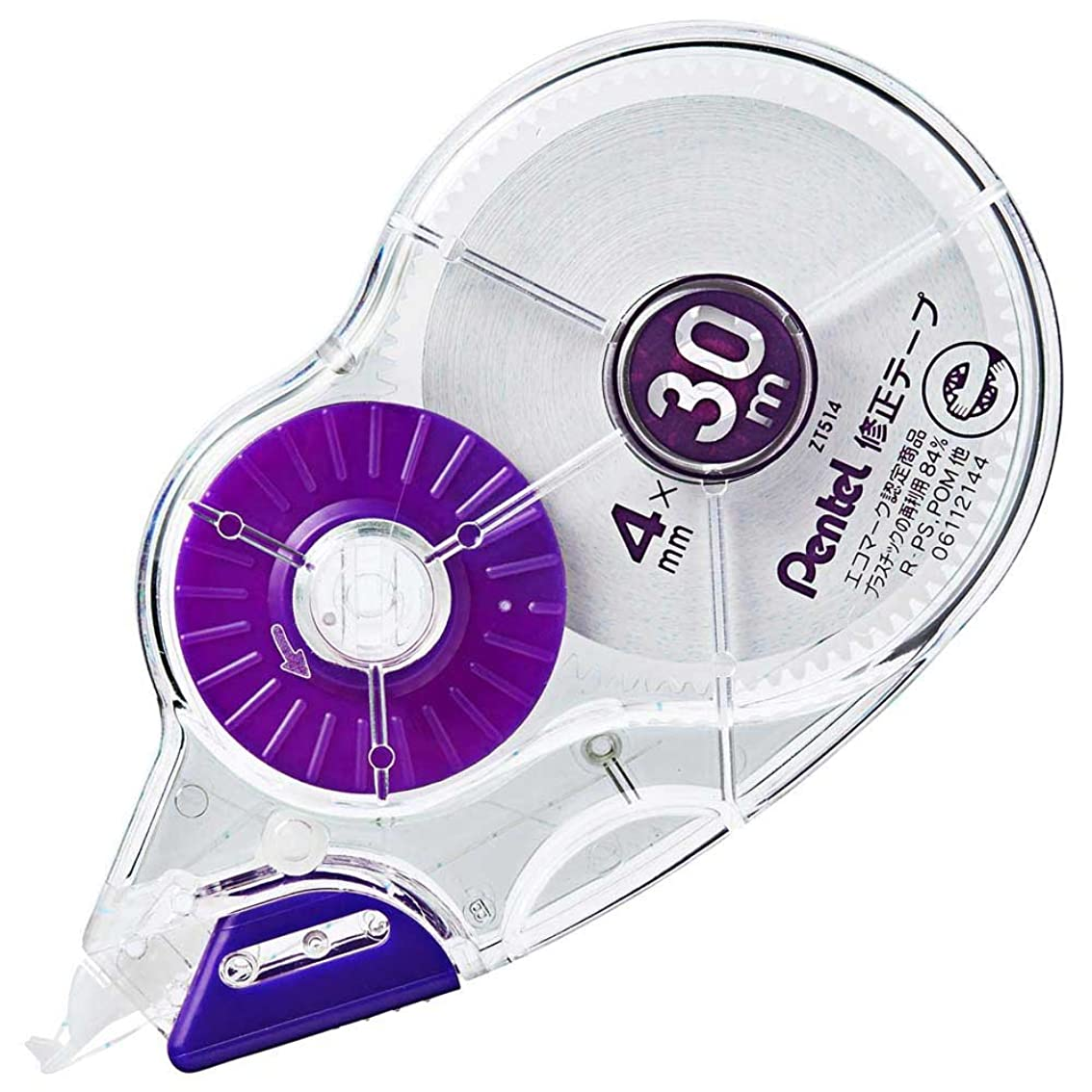 満足フォージ苦悩ぺんてる 30m修正テープ ピタットライン付 4mm XZT514-W