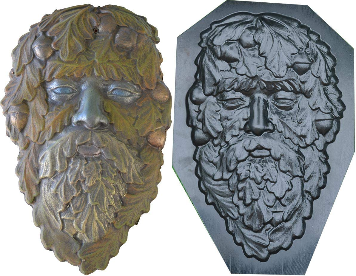 Mold Green Man face Plaque Max 48% OFF Old Greenm Faces Tree Wood Regular discount Spirit