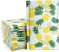 UCGOU 4x8 Inch Bubble Mailers Pineapple Designer Padded Envelopes Boutique Custom Bags Jewelry Mailers Pack of 50