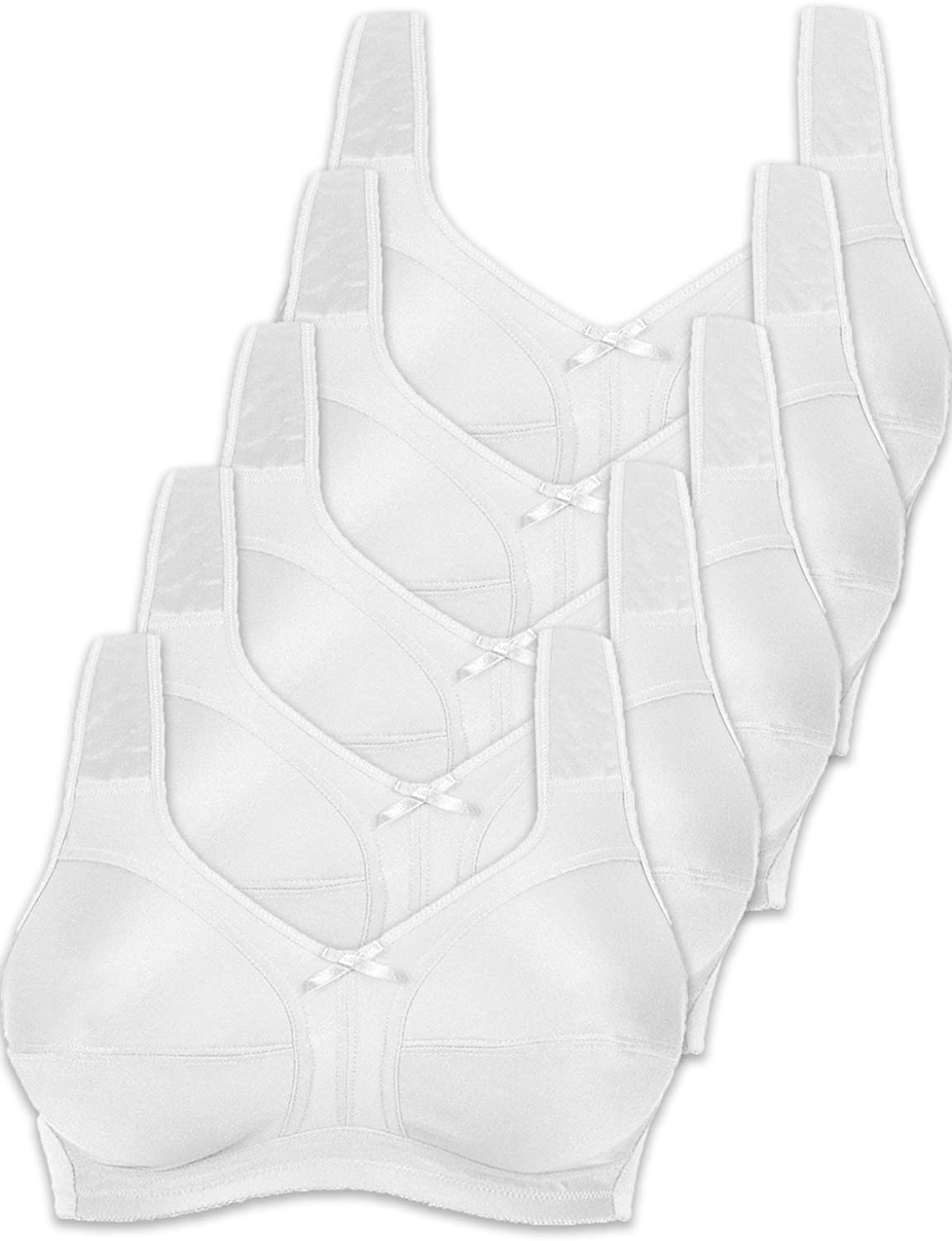 Naturana Pack of 5 NonWired Soft Bras 86136