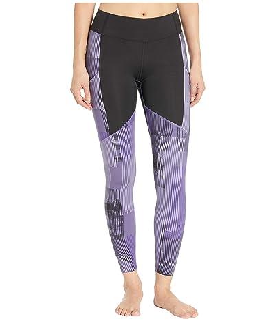 ASICS Printed Train Leggings (Performance Black/Dusty Purple) Women