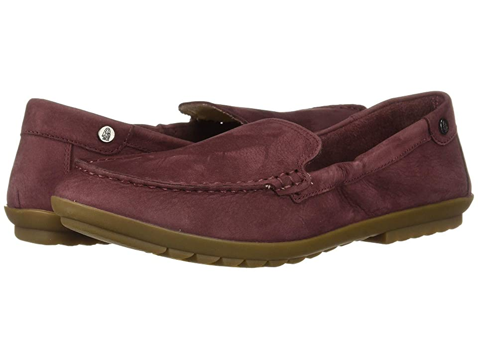 Hush Puppies Aidi Mocc Slip-On (Dark Wine Nubuck) Women