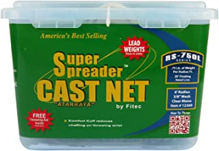 Fitec RS750-L Super Spreader Cast Net Clear 6' Radius, 3/8