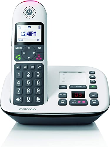 2021 Motorola CD5011 DECT 6.0 Cordless Phone with Answering Machine, Call Block and Volume popular popular Boost, White, 1 Handset outlet online sale
