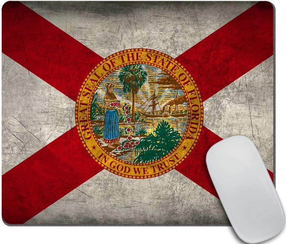 Amcove Cute Super sale Rectangle Mouse Pad Flag Florida State Custom Atlanta Mall
