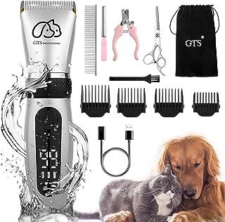 کیت GTS Dog Clippers سگ آرایش حرفه ای سگ قابل شارژ IPX5 کم صدا با راهنمای شانه قیچی کیت ناخن سگ گربه خرگوش