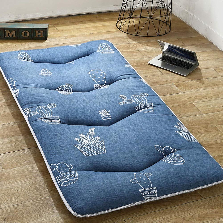 Tatami Thick Foldable Warm Non-Slip Mattress Bed Tweezers Floor Sleeping Mat Home Extra Large,D,120  200CM