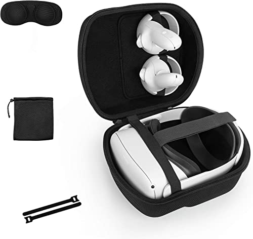 Étui Housse pour Oculus Quest & Oculus Quest 2 & Oculus Quest 2 Sangle Elite Strap Casque de réalité virtuelle, Coque...