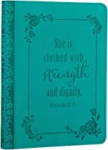 Strength and Dignity Handy-sized LuxLeather Journal - Proverbs 31:25