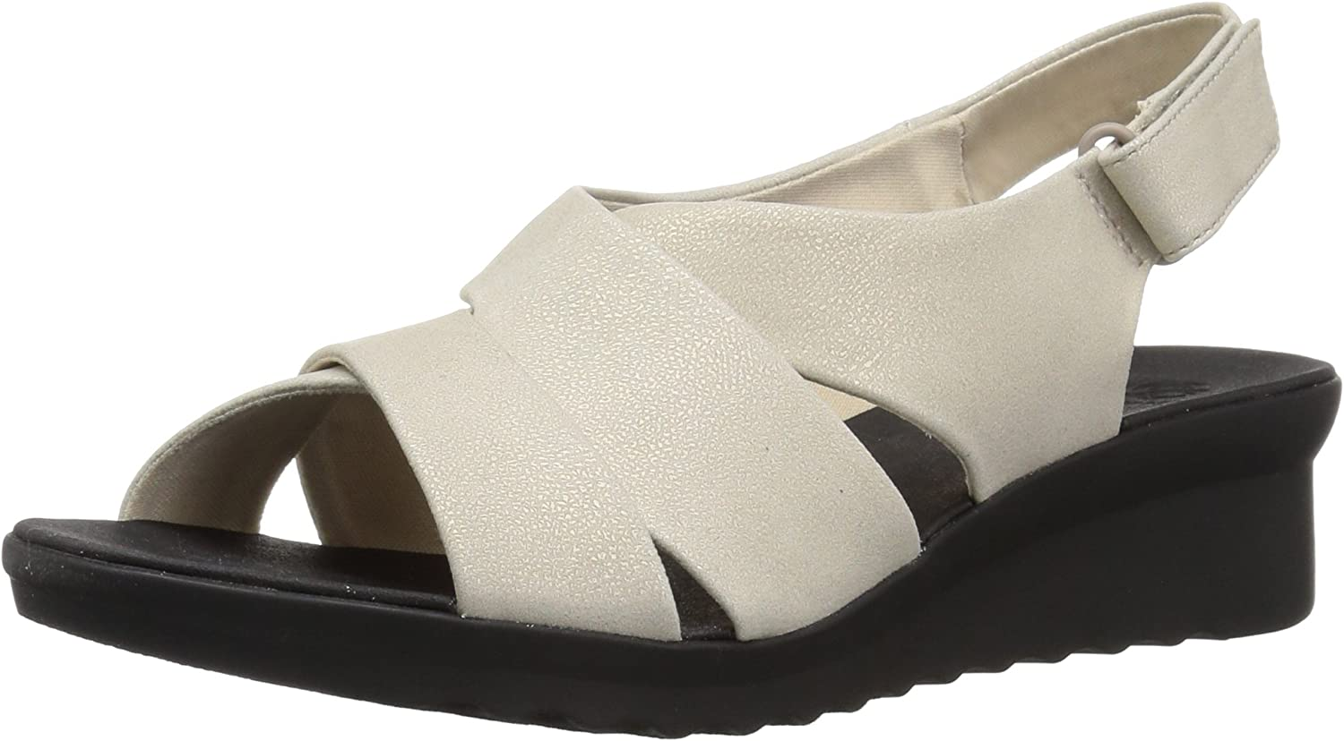 Clarks Wouomo Caddell Petal Seal, Champagne Mettuttiic Synthetic, 9 Medium US