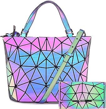Obvie HotOne Luminous Geometric Purse and Handbag