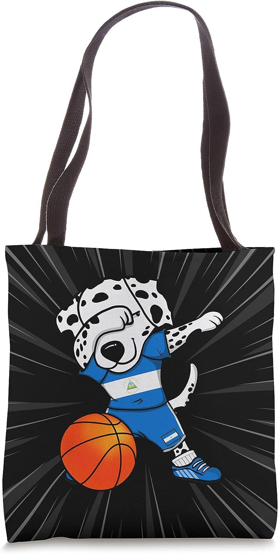 Dabbing Dalmatian Dog Nicaragua Basketball Max 45% OFF Jersey Attention brand Tot Fans Sport