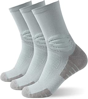 Insox Womens Mens Compression Soft Athletic Arch Support Running Crew Socks 1/3/6 Pairs