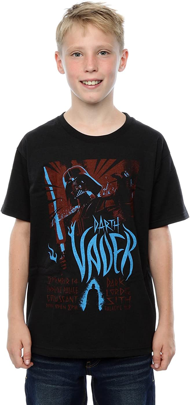 STAR WARS Boys Darth Vader Rock Poster T-Shirt 9-11 Years Black