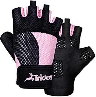 Trideer Breathable Workout Gloves Women, Weight Lifting Gloves, Gym Gloves, Exercise..