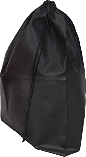 "Set of 2 Large Travel Boot Bags, Portable Shoe Bags with Drawstring, 20"" x 24"""