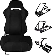 $208 » Sponsored Ad - Minneer Racing Bucket Seat with Adjustable Slide Fit Racing Wheel Stand All Metal Parts (Racing Wheel Stand...